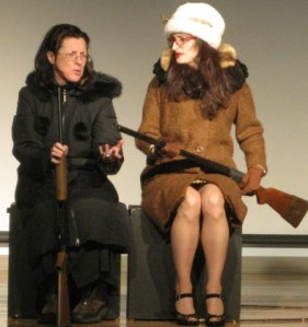 The Hunters by Joe McDonald, Directed by Matthew Silver. Janice Kirkel (left) as Eileen and Lorraine Federico as Rose (