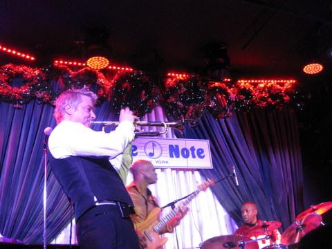 Chris Botti, Richie Goods, bassist, Billy Kilsonm drums