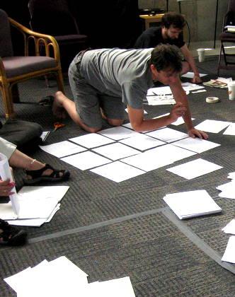 Nick Flynn at work during the workshop at Omega Institute.