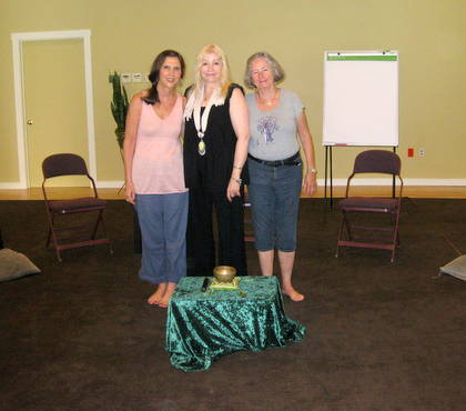 Deborah Temple, Dr. Rosary O'Neill, and Mary at the Omega Institute.