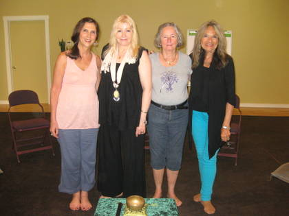 Deborah Temple, Dr. Rosary O'Neill, Mary, Carole Di Tosti at the Omega Institute.