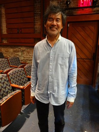 David Henry Hwang graciously speaking with us and staying for pictures after the class at the Cherry Lane Theatre.