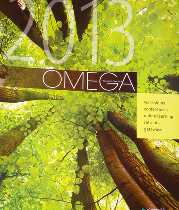 Picture from the Omega Institute catalogue for 2013