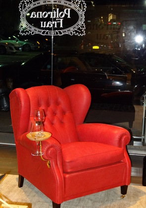 What other arm chair is ready for you to relax with a delicious glass of Luce?
