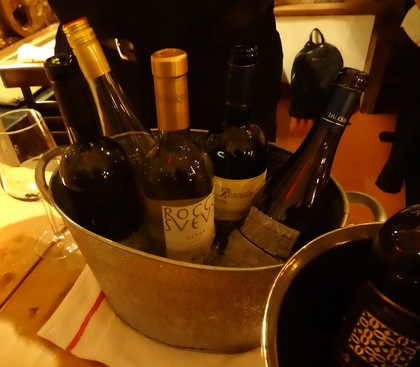 Soave wines from the Veneto. Tasting at Risotteria Melotti, Move the Passion Walking Wine Tour, NYC