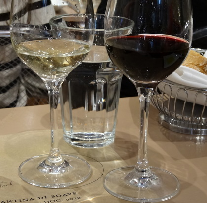 CANTINA DI SOAVE Re Midas Soave DOC, 2012 and CESARI Mara Valpolicella Superiore Ripasso DOC, 2011 (the red wine)