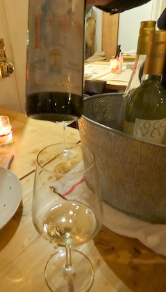 A delicious Soave at the tasting during Move the Passion NYC Walking Wine Tour (venue Risotteria Melotti)