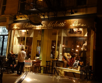 Risotteria Melotti in the East Village on 5th St. between 1st and 2nd. Venue for the Soave tasting during Move the Passion Walking Wine Tour NYC