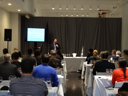 Ian D'Agata, Scientific Director of Vinitaly International Academy at the Barolo Cannubi presentation and tasting.