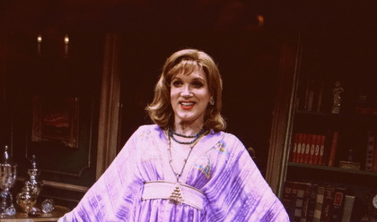 Charles Busch as Jimmy impersonating Adriana in The Tribute Artist by Charles Busch presented by Primary Stages at 59E59 Theaters. Photo by James Leynse