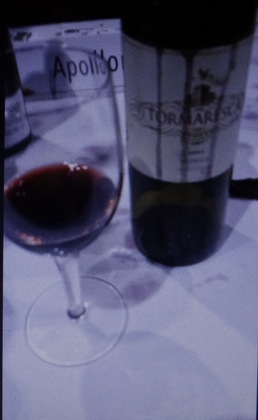 The last of the bottle at the GD Cucine wine event.