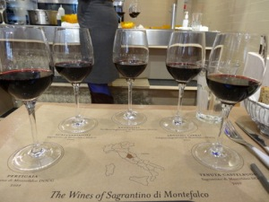 Montefalco Sagrantino wines I recently sampled at Eataly NYC.