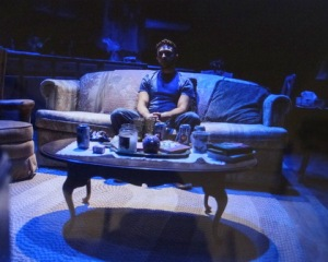 James Kautz in Take Me Back by Emily Schwend, directed by Jay Stull at Walkerspace. Photo by Russ Rowland.