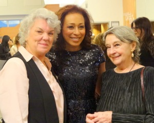 L to R: Tyne Daley, Tamara Tunie, Zoe Caldwell at the LPTW Awards Ceremony and Big Mingle. (Photo by Carole Di Tosti)