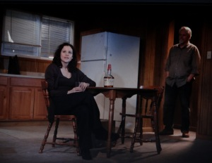 L to R: Ally Sheedy, Brian Lally in 'The Long Shrift by Robert Boswell, Directed by James Franco. Photo by Joan Marcus.
