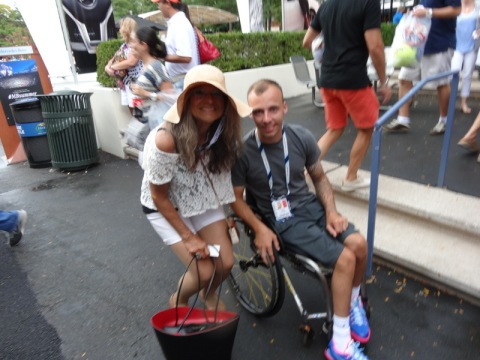 Me with Andy Lapthorne the winner of the Men's Wheelchair Quad Singles.