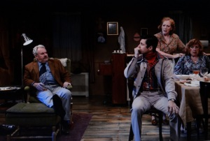 (L to R) Peter Cormican, James Michael Lambert, Kate Kearney-Patch in 'The Brightness of Heaven,' by Laura Pederson, directed by Ludovica Villar-Hauser. Photo by John Quilty.