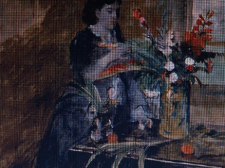 Portrait of Estelle Musson Degas, Edgar Degas (1872). Courtesy of the NOMA site.