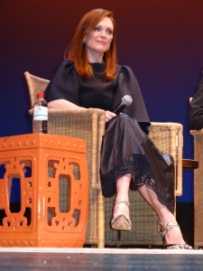 Julianne Moore, Golden Globe Winner for 'Still Alice,' at the Q & A for the 22nd HIFF US Premiere. Photo by Carole Di Tosti