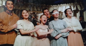 Happier days in 'Degas in New Orleans,' (L t-R) Lucy Makebish, Sarah Newcomb, Patrick O'Shea, Natalie LaBossier, Elizabeth Lococo. Photo by Carole Di Tosti