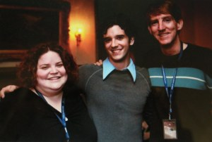 At the Seattle Film Festival, 10 years ago (L to R) A fan of the actor and director, Michael Urie and Brian Sloan. Photo courtesy of this site.