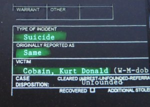 Kurt Cobain, 'Soaked in Bleach, suicide controversy