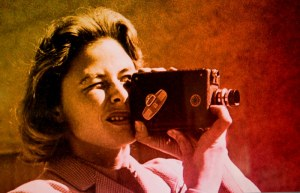 Ingrid Bergman shooting family films in 'Ingrid Bergman in Her Own Words.' Photo courtesy of Mantaray AB.
