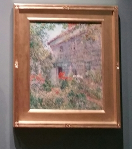 NYBG, Impressionism American Gardens on Canvas, Childe Hassam, Old House and Garden, East Hampton, Long Island