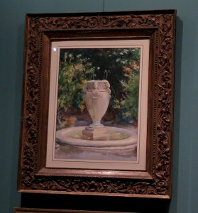 John Singer Sargent, Vase Fountain, Pocantico, NYBG, Impressionism American Gardens on Canvas