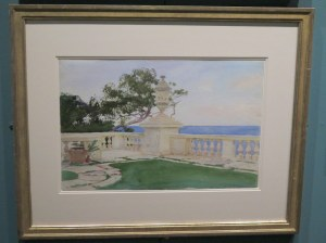 John Singer Sargent, The Fountain of Oceanus, NYBG, Impressionism American Gardens on Canvas