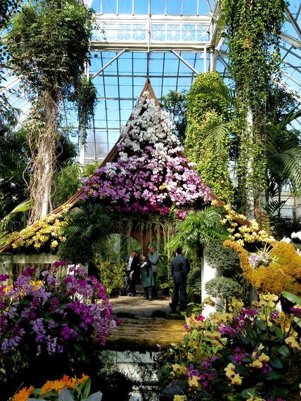 Thai sala, Thailand, NYBG, Orchid Show: Thailand