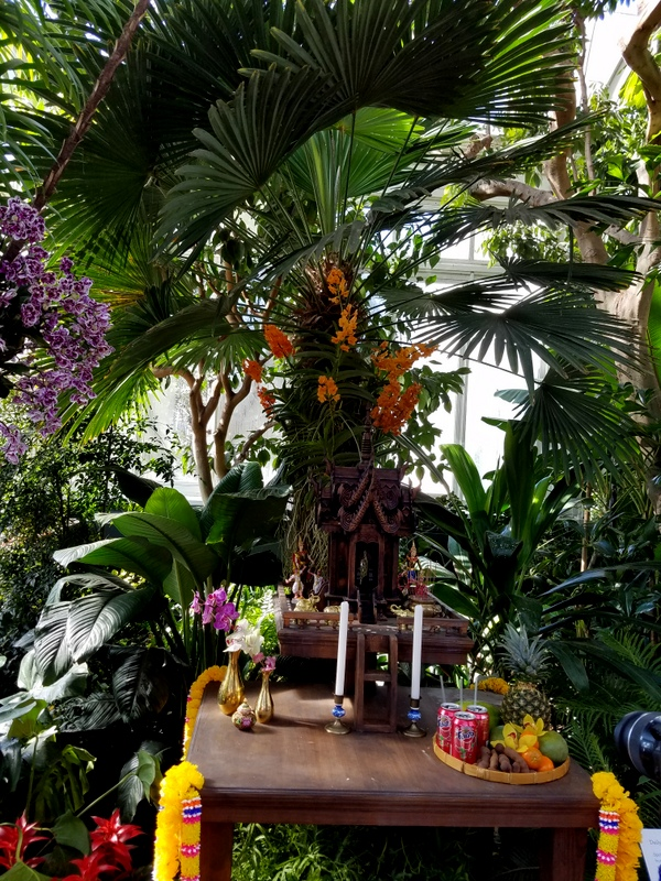 Thai Spirit Houses, NYBG Orchid Show: Thailand