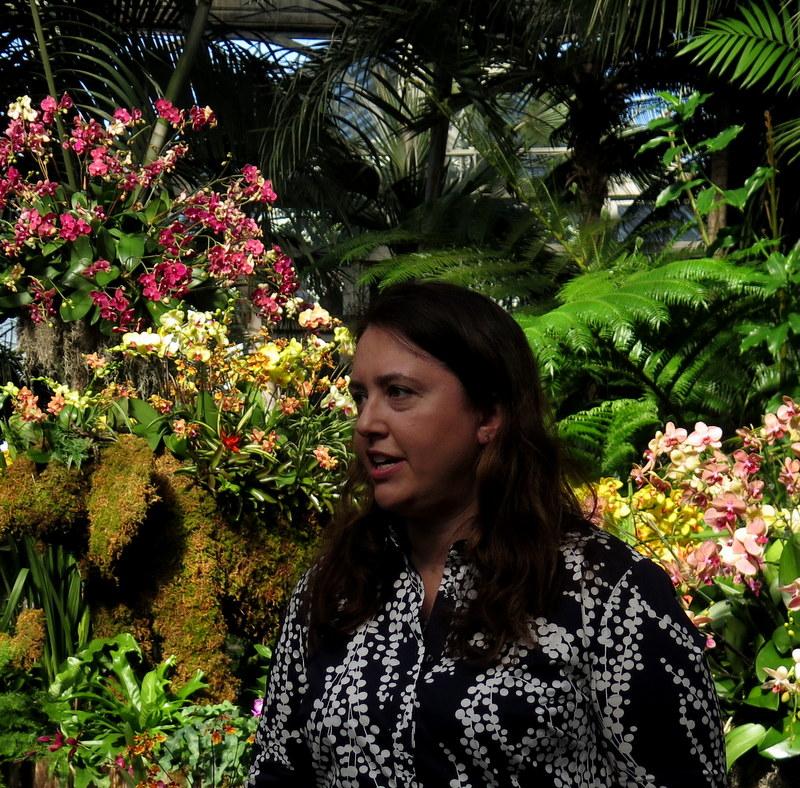Karen Daubmann, AVP Exhibitions and Public Engagement, NYBG, Orchid Show: Thailand
