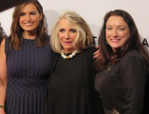 Mariska Hargitay, Sheila Nivens, Trish Adlesic, I Am Evidence, Tribeca Film Festival World Premiere Red Carpet