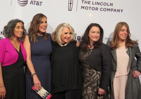 Geeta Gandbhir, Mariska Hargitay, Sheila Nivens, Trish Adlesic, Nancy Abraham, Tribeca Film Festival World Premiere, I Am Evidence