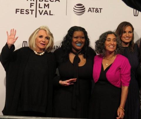 Sheila Nivens, Ericka Murria, Geeta Gandbhir, Mariska Hargitay, I Am Evidence, TFF World Premiere Red Carpet, backlogged rape kits, rape culture