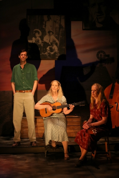 David M. Lutken, Helen Jean Russell, Megan Loomis, Woody Sez: The Life & Music of Woody Guthrie, Irish Repertory Theatre, Woody Guthrie