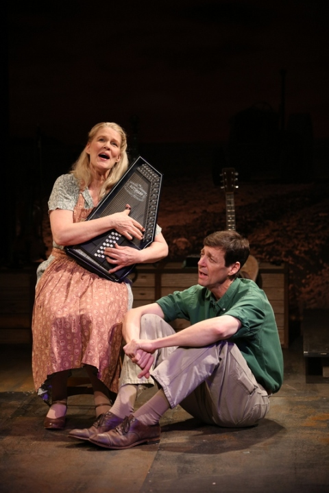 Helen Jean Russell, David M. Lutken, Woody Sez, Irish Repertory Theatre, Woody Guthrie