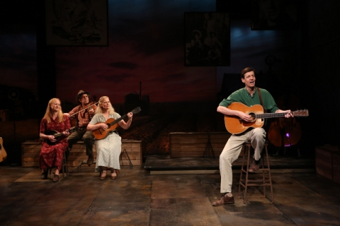 Megan Loomis, Andy Teirstein, Helen Jean Russell, David M. Lutken, Woody Sez: The Life & Music of Woody Guthrie, Irish Repertory Theatre