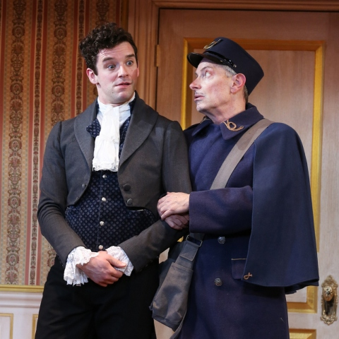 Michael Urie Arnie Burton, The Government Inspector, Nikolai Gogol, Revizor, Jeffrey Hatcher, Jesse Berger, Red Bull Theater