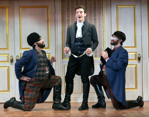 Ryan Garbayo, Michael Urie, Ben Mehl, The Government Inspector, New World Stages