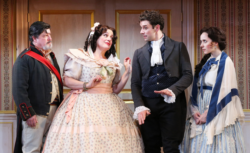 Michael McGrath, Mary Testa, Michael Urie, Talene Monahon, New World Stages, The Government Inspector