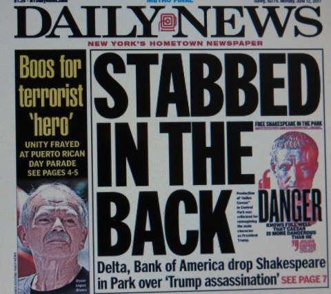 The Daily News, Shakespeare in the Park, Julius Caesar