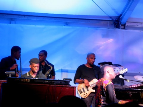 Jazz & Chihuly, Songs of Protest & Reconciliation, New York Botanical Garden, summer concert series, Damien Sneed
