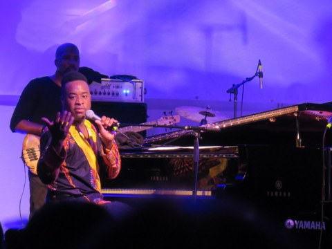 Jazz & Chihuly, Songs of Protest & Reconciliation, New York Botanical Garden summer concert series, Damien Sneed