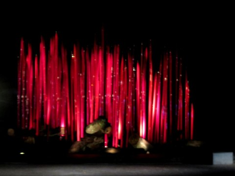 Chihuly's Red Reeds on Logs (2017), Jazz & Chihuly, Songs of Protest & Reconciliation, New York Botanical Garden