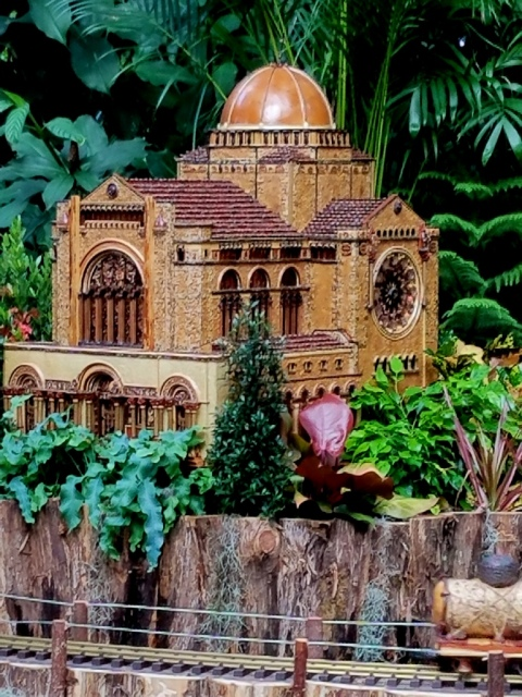 NYBG Holiday Train Show, St. Bartholomew replica
