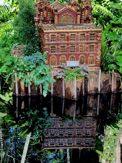 Ellis Island display, NYBG Holiday Train show, Applied Imagination