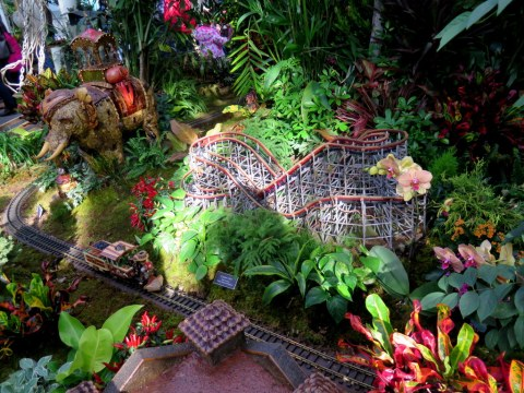 NYBG Holiday Train Show, Elephantine Colossus, Cyclone, Coney Island Display, Applied Imagination