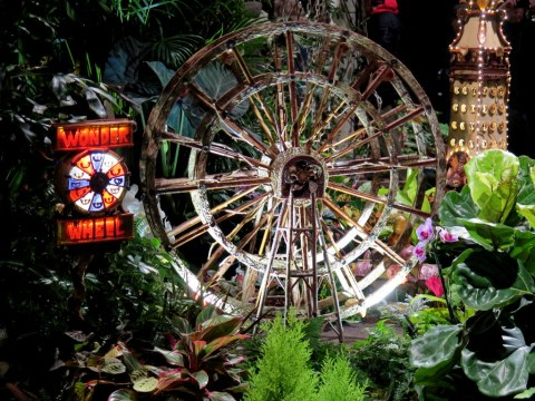 Wonder Wheel, Coney Island, Bar Car Nights, NYBG Holiday Train Show